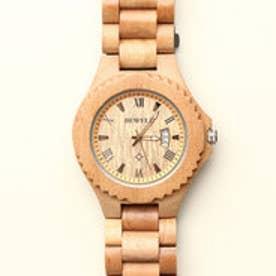 木製腕時計天然素材 木製腕時計 日付カレンダー 軽い 軽量 メンズ腕時計 WDW026-01 (1)