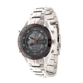 アナログ&デジタル ダイバーズウォッチ風 クロノグラフ トリプルカレンダー メンズ腕時計 HPFS9401-SVRD (SVRD)