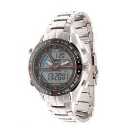 アナログ&デジタル ダイバーズウォッチ風 クロノグラフ トリプルカレンダー メンズ腕時計 HPFS9405-SVRD (SVRD)