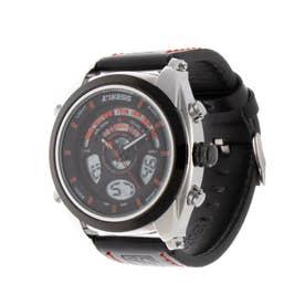 アナログ&デジタル ダイバーズウォッチ風 クロノグラフ トリプルカレンダー メンズ腕時計 HPFS1819-SVRD (SVRD)