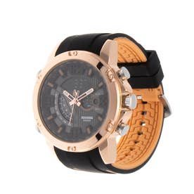 アナログ&デジタル ダイバーズウォッチ風 クロノグラフ トリプルカレンダー メンズ腕時計 HPFS9907-PGD (PGD)
