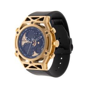 アナログ&デジタル ダイバーズウォッチ風 クロノグラフ トリプルカレンダー メンズ腕時計 HPFS9520-YGD (YGD)