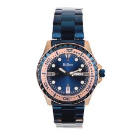 メンズ腕時計 BIDEN バイデン 日本製ムーブメント 日常生活防水 日付・曜日 カレンダー BD014-BLPG (BLPG)