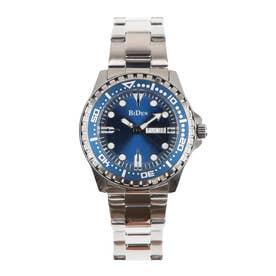メンズ腕時計 BIDEN バイデン 日本製ムーブメント 日常生活防水 日付・曜日 カレンダー BD014-BLSV (BLSV)