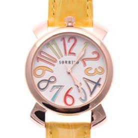 SORRISO ソリッソ 上部リューズのミッドサイズケースにイタリアンデザイン腕時計 SRF9-PGYL(PGYL)