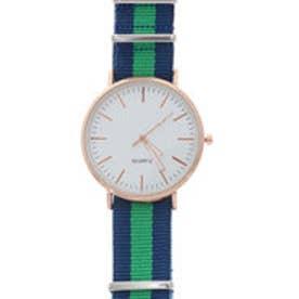 シンプル北欧デザイン カンタン交換NATOタイプベルトの腕時計 ピンクゴールド SPST006-BG (BG)