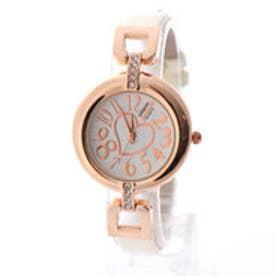 SORRISO ソリッソ 愛されハートが文字盤に煌めく細ベルトが大人可愛い腕時計 SRF2-WHT(WHT)