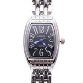 日本製ムーブメント 小さめ可愛いメタルベルトのシンプル トノー型腕時計 SVBK (SVBK)
