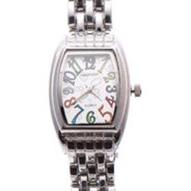 日本製ムーブメント 小さめ可愛いメタルベルトのシンプル トノー型腕時計 SVWM (SVWM)