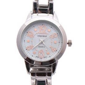 日本製ムーブメント シェル文字盤にピンクゴールドが映えるメタルベルト腕時計 AV017-SLV (SLV)