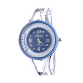 ラウンドストーンが動くバングルウォッチ 丸型腕時計 AV035-NVY (NVY)