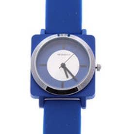 リバース REBIRTH セイコームーブメント 日常生活防水 豊富なカラーが可愛い 小さめラバーウォッチ シリコンベルト腕時計 BLU (BLU)