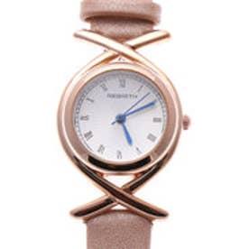 リバース REBIRTH セイコームーブメント 日常生活防水 上品で高級感のあるデザイン ピンクゴールドケースのレザーベルト腕時計 CAM (CAM)