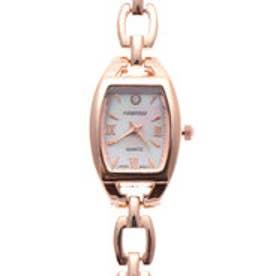日本製ムーブメント シェル文字盤のトノー型腕時計 ブレスレットウォッチ AV003-PGD (PGD)