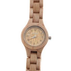日本製シチズンMIYOTAムーブメント 天然素材の木製腕時計 ウッドウォッチ 小さめ WDW022-01 (01)