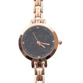 グリッター装飾のラグジュアリー腕時計 ラメパウダー文字盤のブレスレットウォッチ SPST018-PGBK (PGBK)
