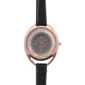 ビビットカラーが印象的なラグジュアリーウォッチ ラインストーン腕時計 SPST008-BLK (BLK)