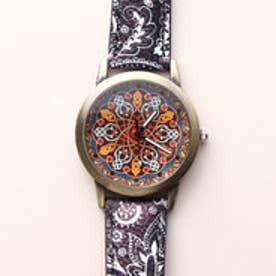 アンティーク調のケースにアジアンテイストが際立つ おしゃれな腕時計 SPST024-BLK (BLK)