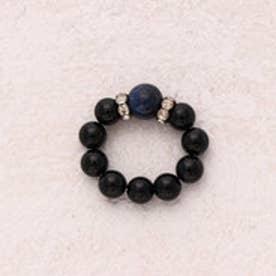 天然石リング ブルータイガーアイ オニキス リング パワーストーン 指輪 SS012 (-)