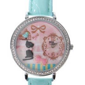 レディース腕時計 Miss Keke ケケ 黒猫 ブルーバード ファンシー ファッションウォッチ KK1059-GRN (GRN)
