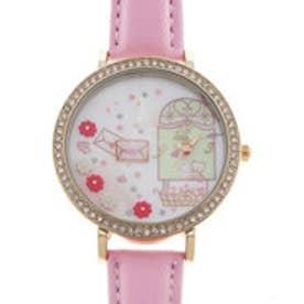 レディース腕時計 Miss Keke ケケ ファンシー かわいい ラインストーン ファッションウォッチ KK1052-PNK (PNK)