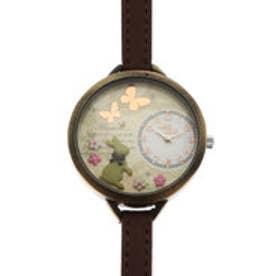 レディース腕時計 Miss Keke ケケ かわいい ファンシー うさぎ ファッションウォッチ KK0882-DBR (DBR)