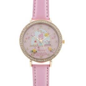 レディース腕時計 Miss Keke ケケ ファンシー かわいい ラインストーン ファッションウォッチ KK1060-PNK (PNK)