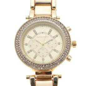 ハンナマーティン Hannah Martin 高級感溢れる ラインストーンとフェイクダイヤル腕時計 HM005-YGYG (YGYG)