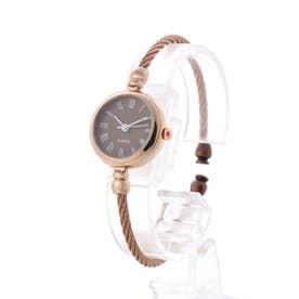 アンティーク調バングルウォッチ ワイヤーバングル 小さめシンプル レディース腕時計 SPST036-BRBR (BRBR)