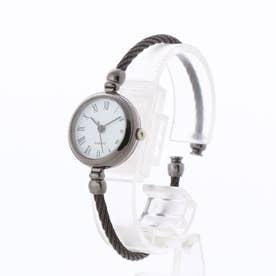 アンティーク調バングルウォッチ ワイヤーバングル 小さめシンプル レディース腕時計 SPST036-WHBK (WHBK)