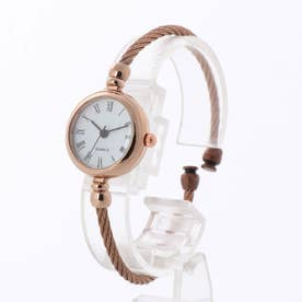 アンティーク調バングルウォッチ ワイヤーバングル 小さめシンプル レディース腕時計 SPST036-WHBR (WHBR)