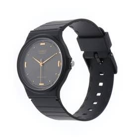 CASIO腕時計 カシオ CASIO チプカシ チープカシオ アナログ表示 丸形 MQ-76-1A(ブラック) (F)