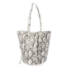 サミ Bucket Bag (ホワイトブラック)
