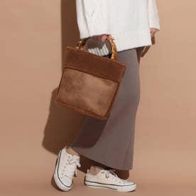 Bamboo Bucket Bag (ブラウン)