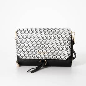 Tassel Monogram Wallet Shoulder (ホワイトブラック)