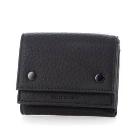 財布 レディース 三つ折り ブランド リサイクルフェイクレザー (ブラック)