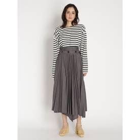 プリーツレイヤードスカート (ブラック)
