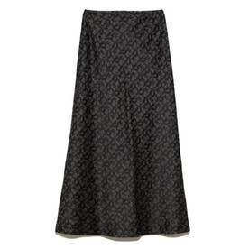 ジャガードロングナロースカート (BLK)