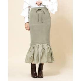 ヘムギャザードッキングスカート (ミント)