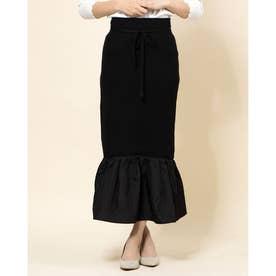 ヘムギャザードッキングスカート (ブラック)