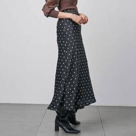 バリエプリントナロースカート (ブラック)