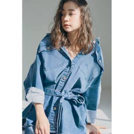 【SNIDEL×Healthy DENIM】シャツジャケット (BLU)