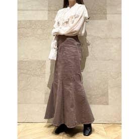 【SNIDEL×Healthy DENIM】ハイウエストレースアップスカート (MOC)