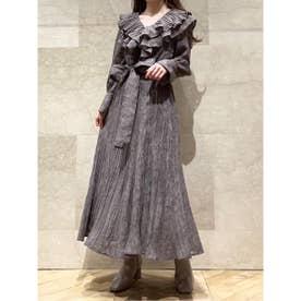ボリュームフリルジャガードドレス (GBEG)
