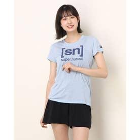 レディース フィットネス 半袖Tシャツ W ESSENTIAL I.D. TEE SNW004783 (ブルー)