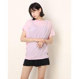 レディース フィットネス 半袖Tシャツ W YOGA LOOSE TEE SNW013470 (ピンク)