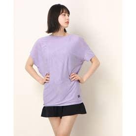 レディース フィットネス 半袖Tシャツ W YOGA LOOSE TEE SNW013470 (ブルー)