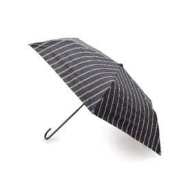 晴雨兼用グリッターストライプミニ傘 (ブラック)