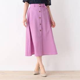【大きいサイズあり・13号・15号】ベルテッドフロントボタンAラインスカート (ピンク)