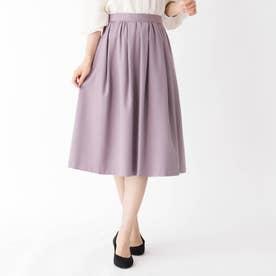 【大きいサイズあり・13号】タックギャザーウールスカート (ベビーピンク)